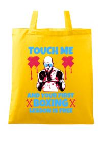 Cana personalizata Touch me Alb