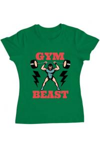 Tricou ADLER barbat Gym Beast Verde mediu