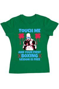 Tricou ADLER copil Touch me Verde mediu