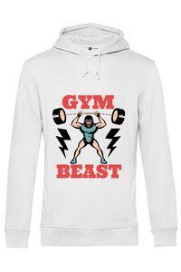 Sacosa din panza Gym Beast Alb