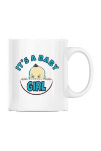 Sapca personalizata It's a baby girl Alb
