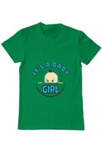 Tricou ADLER dama It's a baby girl Verde mediu