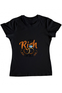 Tricou ADLER copil If you are rich Negru