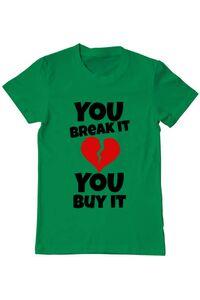 Tricou ADLER copil You break it , you buy it Verde mediu
