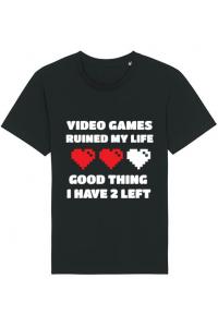 Masca personalizata reutilizabila Video games ruined my life Negru