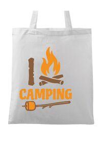 Tricou ADLER copil I love Camping Alb