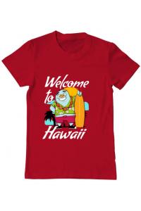 Tricou ADLER copil Welcome to Hawaii Rosu