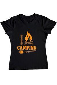 Tricou STANLEY STELLA barbat I love Camping Negru