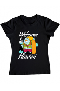 Tricou ADLER copil Welcome to Hawaii Negru
