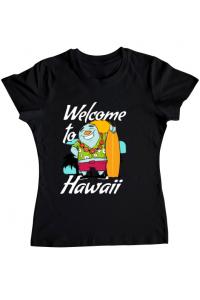 Tricou ADLER barbat Welcome to Hawaii Negru