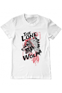 Tricou ADLER copil The lone wolf Alb
