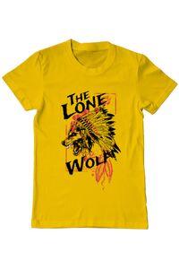 Tricou ADLER dama The lone wolf Galben