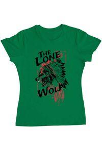 Tricou ADLER copil The lone wolf Verde mediu