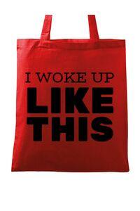 Tricou ADLER copil I woke up like this Rosu