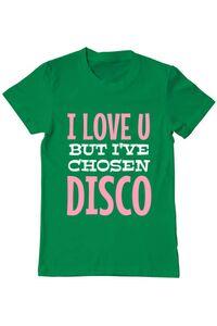 Tricou ADLER dama I've chosen disco Verde mediu