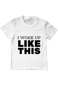 Cana personalizata I woke up like this Alb