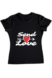 Tricou STANLEY STELLA dama Send love Negru