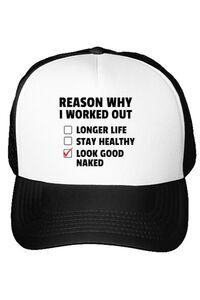Tricou ADLER barbat Reason why I work out Alb