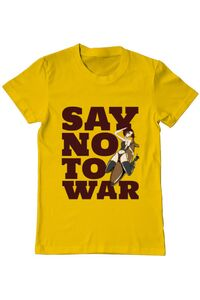 Sacosa din panza Say no to war Galben