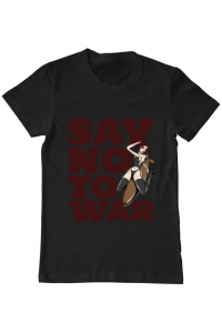 Tricou ADLER dama Say no to war Negru