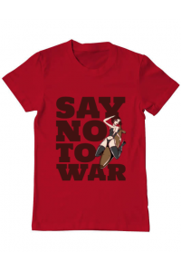 Tricou ADLER dama Say no to war Rosu