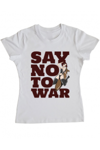 Perna personalizata Say no to war Alb