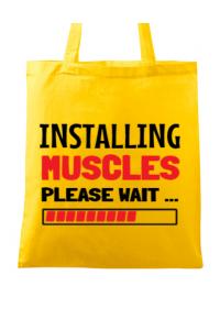 Tricou ADLER barbat Installing Muscles Galben
