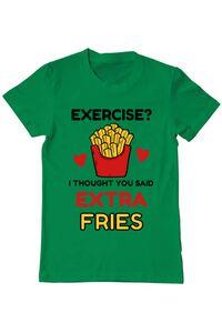Tricou ADLER copil Exercise extra fries Verde mediu