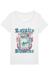Tricou ADLER barbat Royalty bloodline Alb