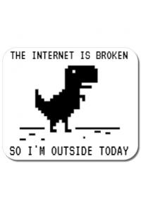 Tricou ADLER copil The internet is broken Alb