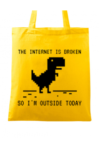 Tricou ADLER barbat The internet is broken Galben