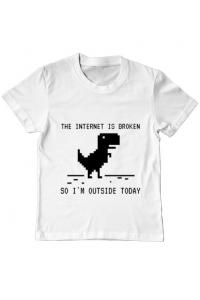Masca personalizata reutilizabila The internet is broken Alb