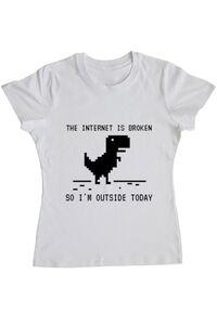 Tricou STANLEY STELLA dama The internet is broken Alb