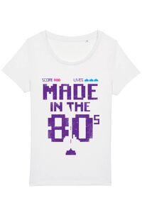 Tricou ADLER dama Made in the 80s Alb