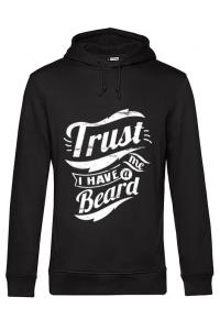 Tricou ADLER barbat Trust me, I have a beard Negru