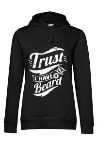 Tricou STANLEY STELLA barbat Trust me, I have a beard Negru