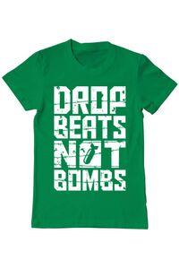 Tricou ADLER copil Drop beats, not bombs Verde mediu
