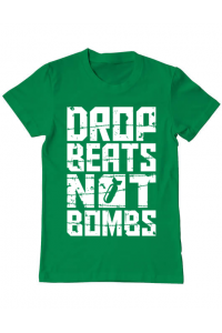Tricou ADLER dama Drop beats, not bombs Verde mediu