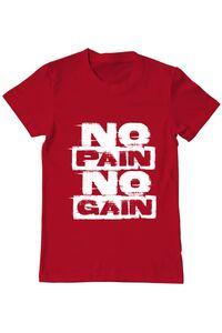 Tricou ADLER copil No pain, no gain Rosu