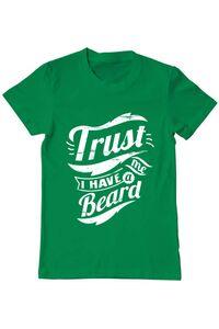 Tricou ADLER dama Trust me, I have a beard Verde mediu