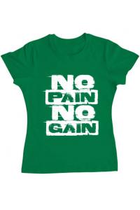 Tricou ADLER copil No pain, no gain Verde mediu