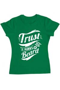 Tricou ADLER copil Trust me, I have a beard Verde mediu