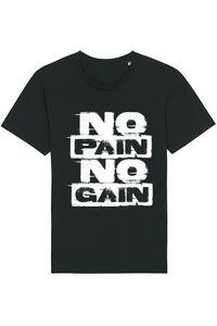 Tricou ADLER barbat No pain, no gain Negru