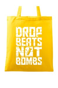 Tricou ADLER barbat Drop beats, not bombs Galben