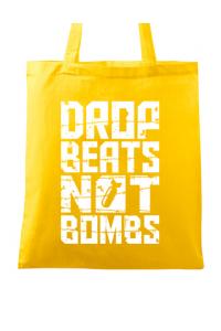 Tricou ADLER dama Drop beats, not bombs Galben