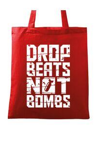 Tricou ADLER copil Drop beats, not bombs Rosu