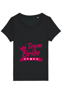 Masca personalizata reutilizabila Team Bride Negru