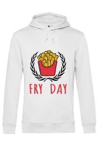 Masca personalizata reutilizabila Fry Day Alb