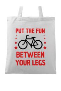Masca personalizata reutilizabila Put the fun Between your legs Alb