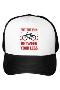 Cana personalizata Put the fun Between your legs Alb